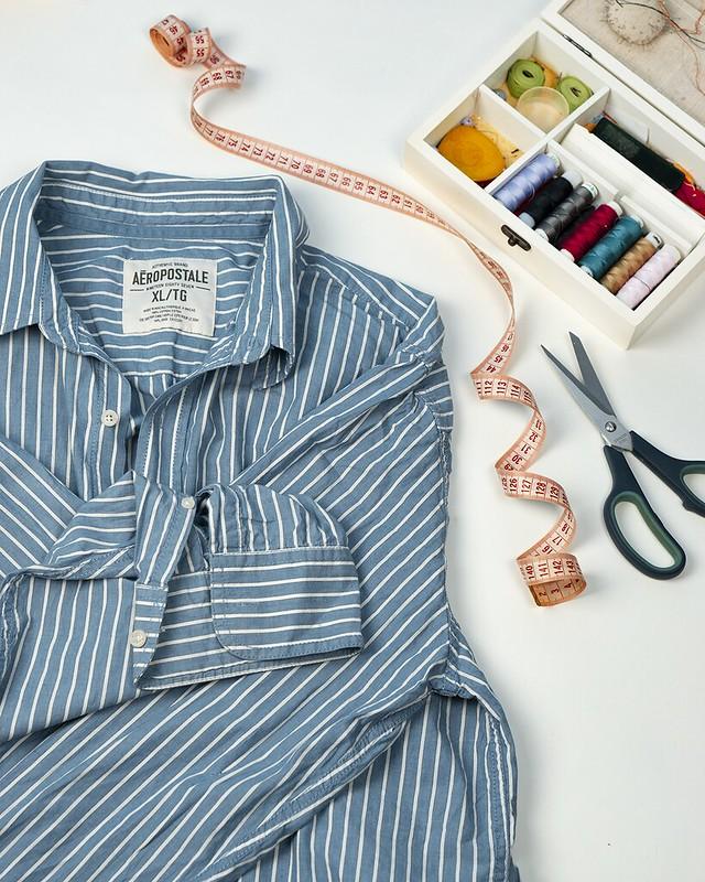 DIY: Переделываем мужскую рубашку