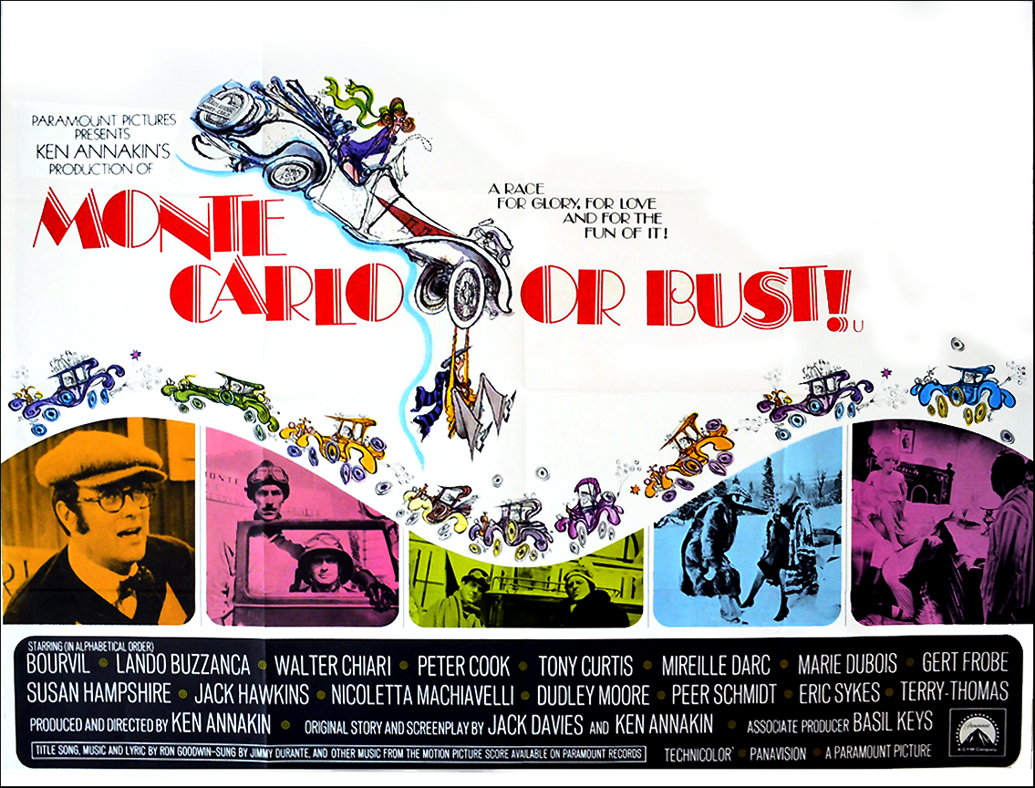 Monte Carlo or Bust! - cinema quad movie poster