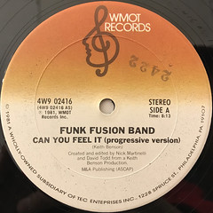 FUNK FUSION BAND:CAN YOU FEEL IT(LABEL SIDE-A)