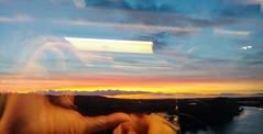 Sunset on Eurostar