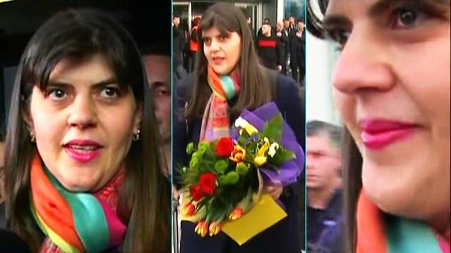 KOVESI, fericită după victoria de la Bruxelles, întâmpinată cu flori la aeroport de #REZIST