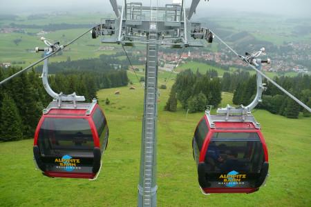 Nesselwang: jediné kombinované lanovky v Německu