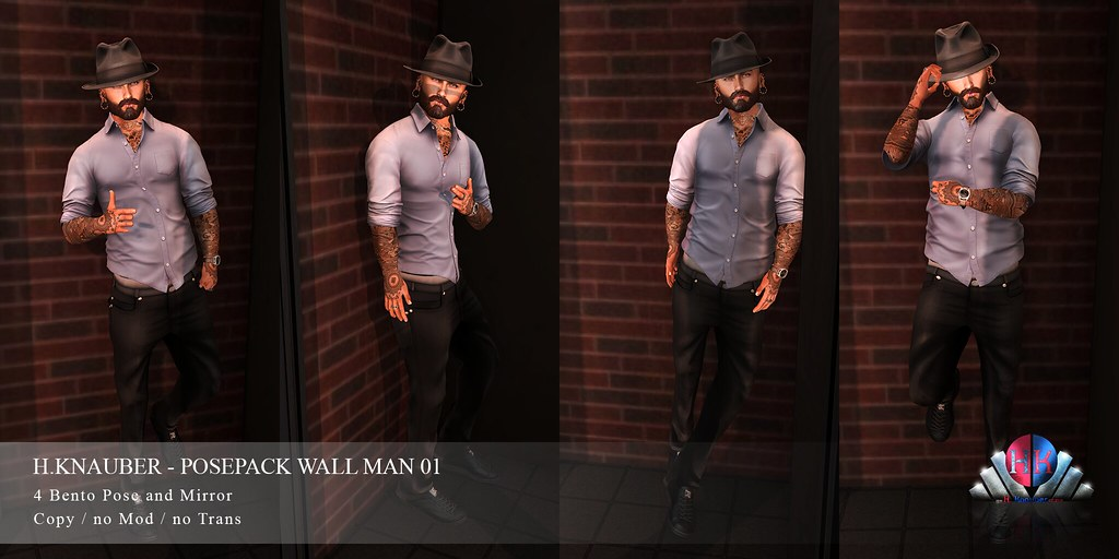 H.Knauber – Posepack Wall Men 01