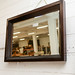 Solid dark wood large mirror E100