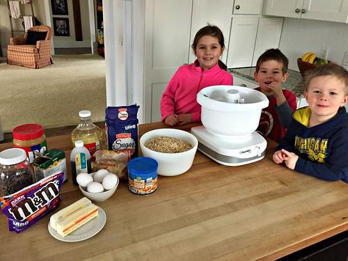 ingredients for Monster Cookies