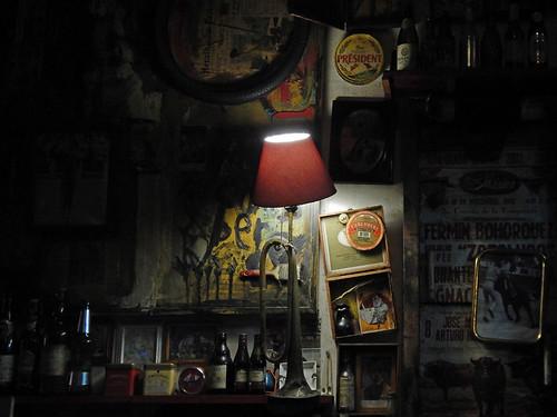 Interior of the Hosteria La Bota in Mexico City