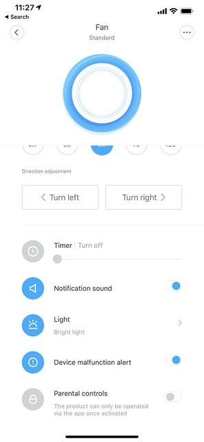 Mi Home iOS App - Fan
