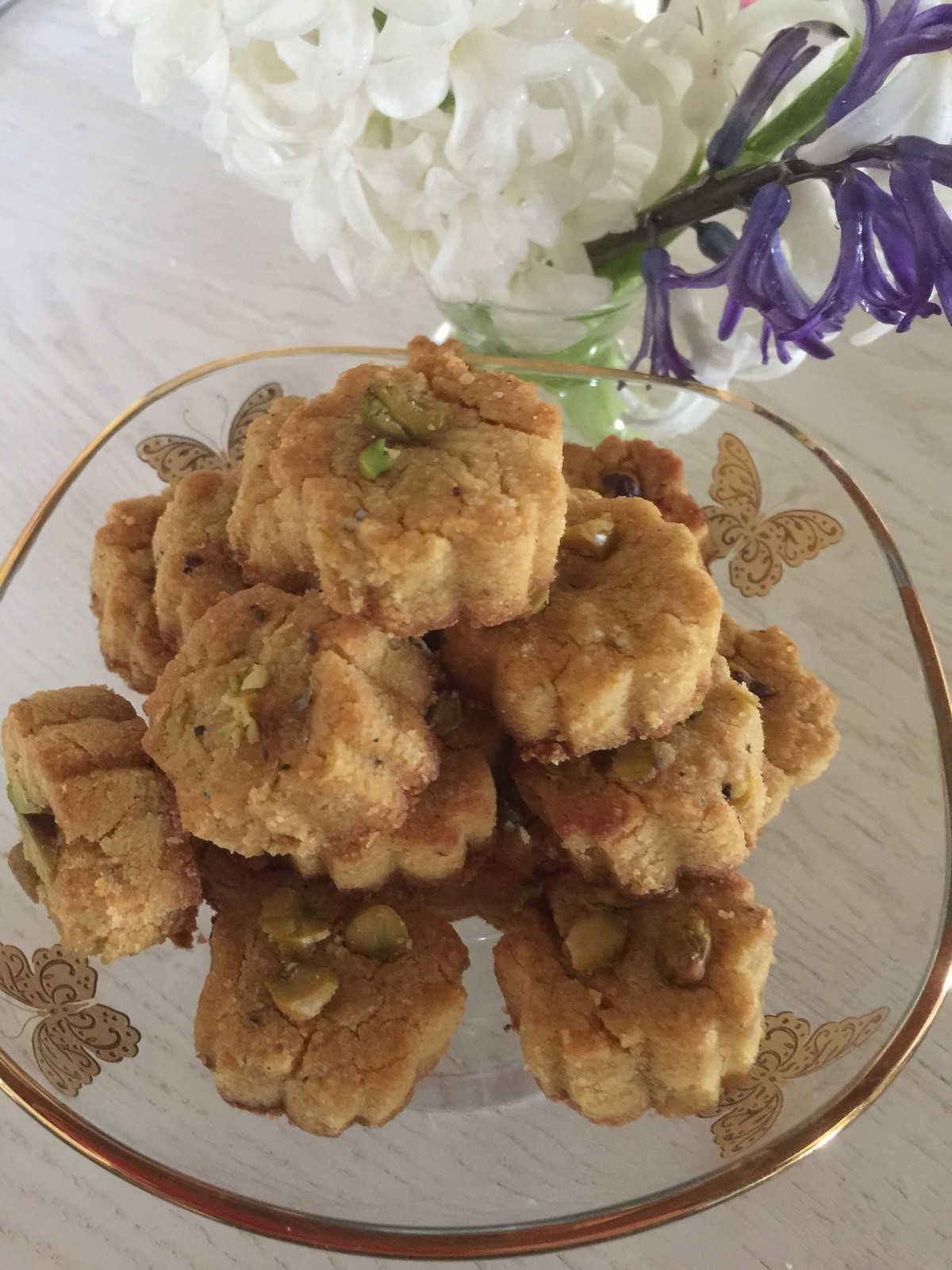 Persian Chickpea Shortbread & Hyacinths for Noruz