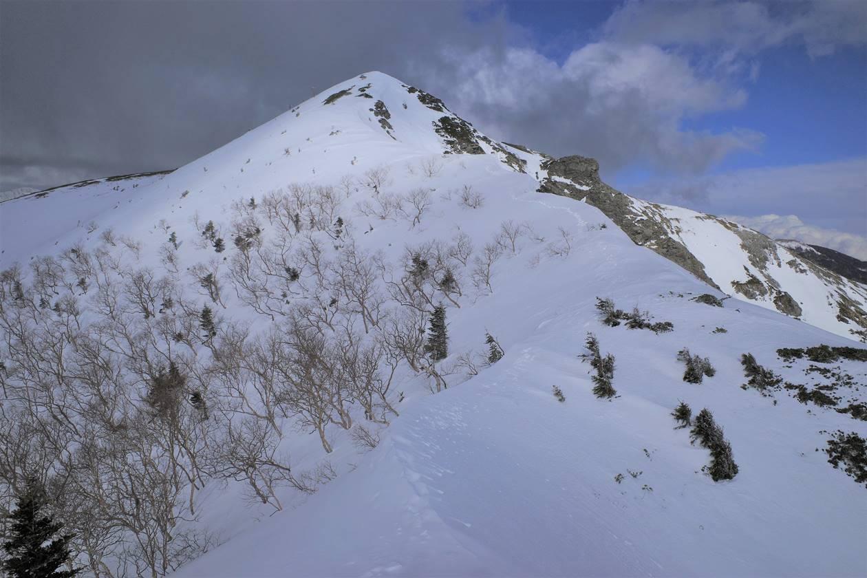 冬の南アルプス・烏帽子岳