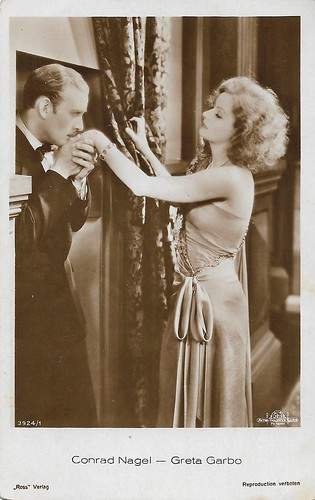 Conrad Nagel and Greta Garbo in The Mysterious Lady (1928)