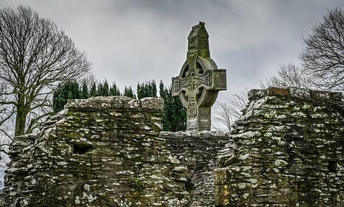 West High Cross at Mainistir Bhuithe Monasterboice - Monastery of Buithe - County Louth Ireland