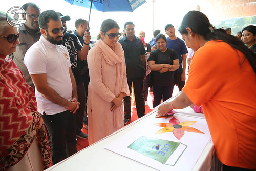 Blessings by Satguru Mata Ji in Games pavilion