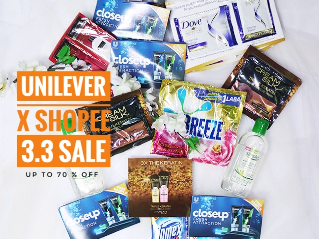 Get the Best Unilever Deals on the count of THREE | Shopee 3.3 Sale