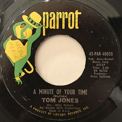 TOM JONES: A MINUTE OF YOUR TIME(LABEL SIDE-A)