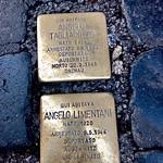 Memorials amongst the paving stones to those lost: Via dei Giubborane, Rome - https://www.flickr.com/people/50141284@N04/