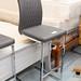 Bar stool chrome and leather. E70