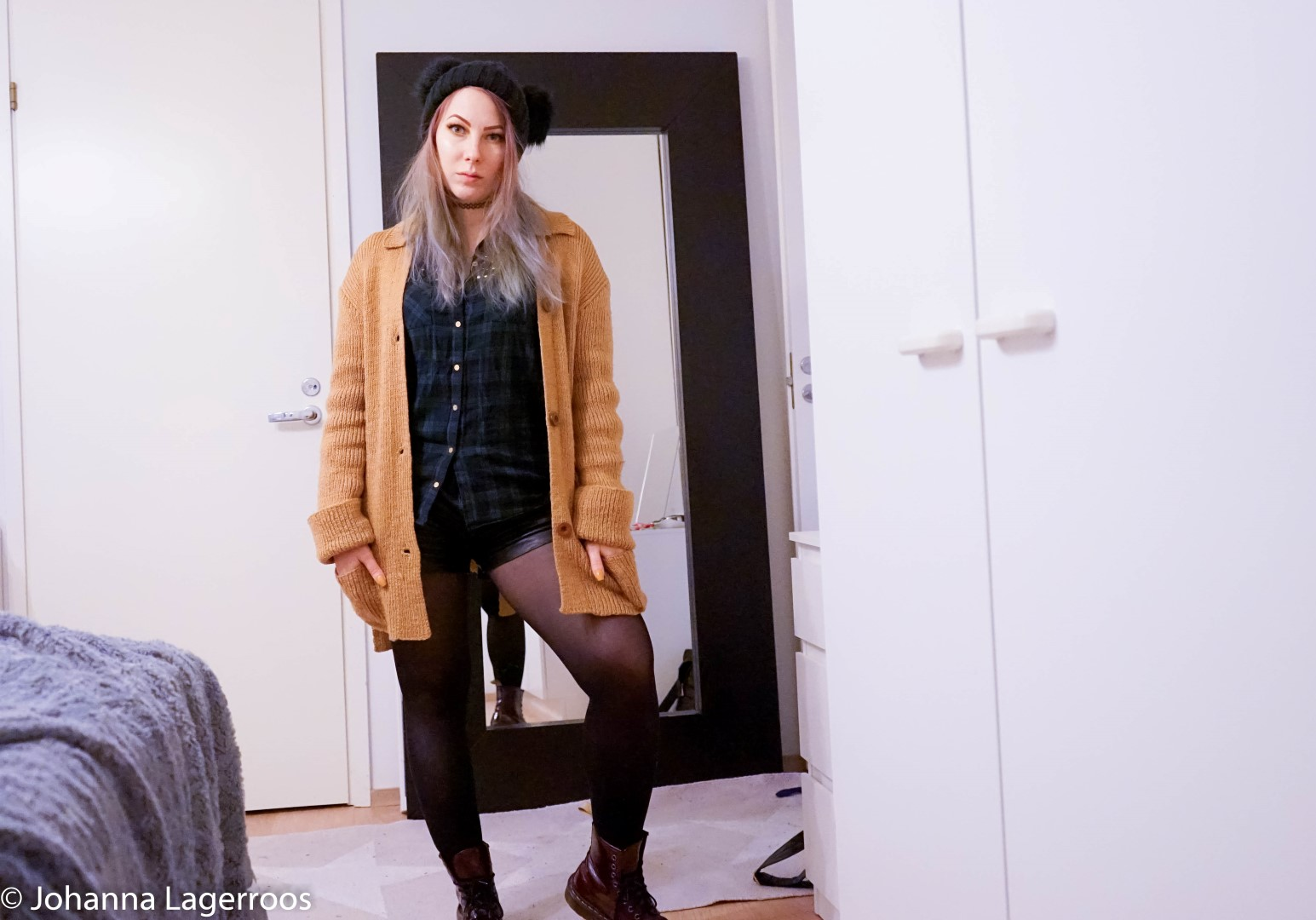 rock chic winter outfit