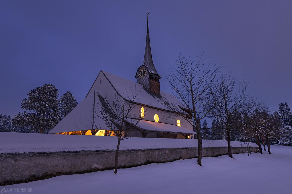 Church at night - Würzbrunnen