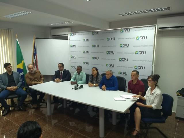 Coletiva de imprensa ocorreu nesta quinta-feira (04) na sede da Defensoria Pública da União em São Luís (MA) - Créditos: Divulgação