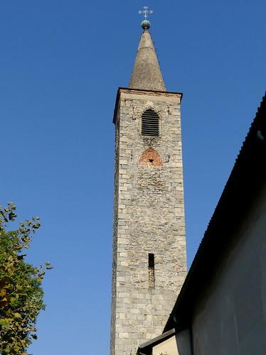 Campanile della Chiesa di Santa Maria della Misericordia (XIV - XV sec.). Ascona (Canton Ticino, Svizzera)