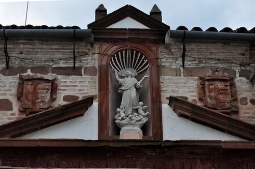 El Carpio (Córdoba-España). Iglesia de la Asunción. Detalle de la portada