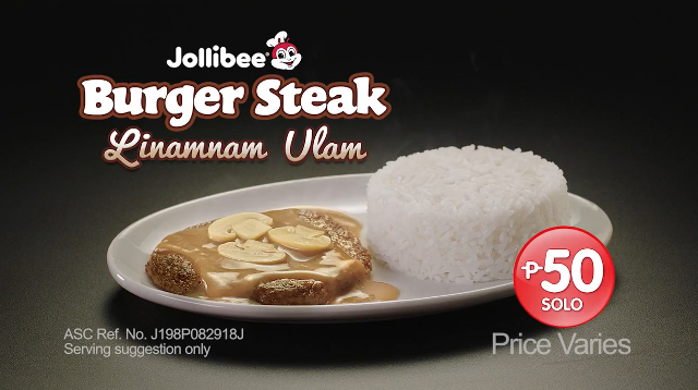 Jollibee Burger Steak