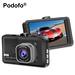 Discount This Month Podofo Registrator Video Recorder Car DVR Camera 3 Inch FHD 1080P Dashcam Motion Detection Blackbox Dash Cam DVRs