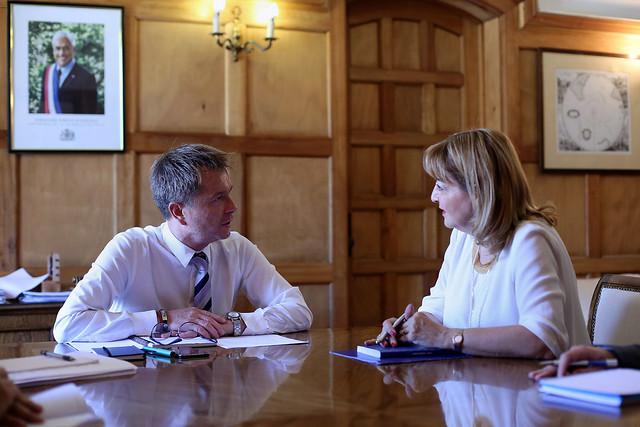 Subsecretario Salaberry recibe en audiencia a la embajadora de la Unión Europea, Stella Zervoudaki | 28.01.19