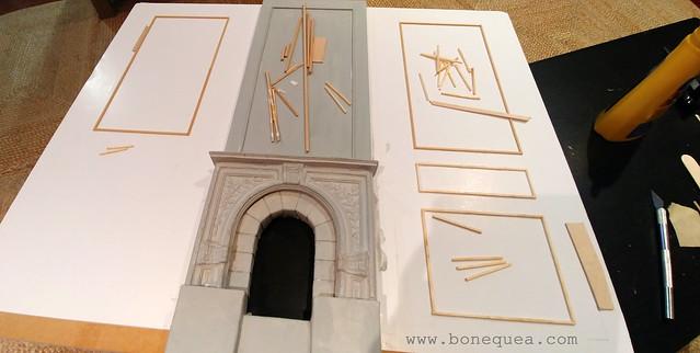 Diorama con chimenea