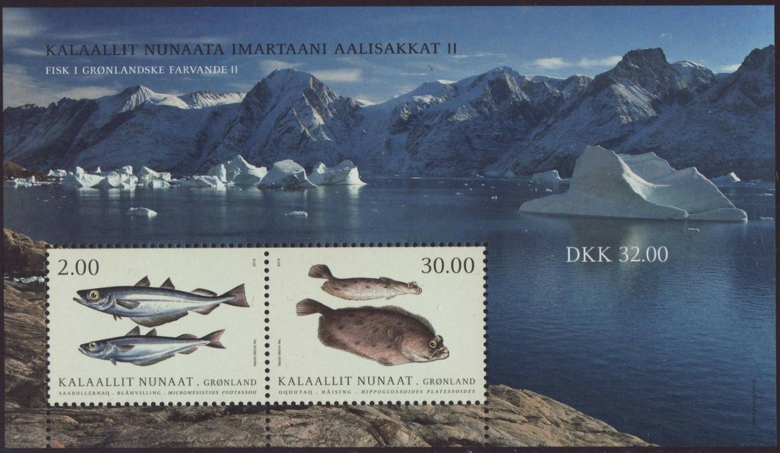 Greenland - Fish in Greenlandic Waters, Part II (January 21, 2019) miniature sheet of 2