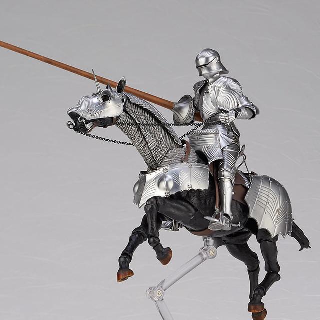 海洋堂『TAKEYA式自在置物』KT-026/027 15世紀哥德式騎兵鎧甲 青銅/白銀(タケヤ式自在置物 15世紀ゴチック式エクエストリアンアーマー)