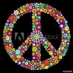 ☮ #Peace #Symbol #Groovy #Flowers #Design ☮ #Vector #illustration © #BluedarkArt #TheChameleonArt 👉 https://adobe.ly/2DmlxN4 ☮  #licenses are available for #sale ☮  #vectorart #floralart #floralpeacesign #peacesign #groovypeacesign #