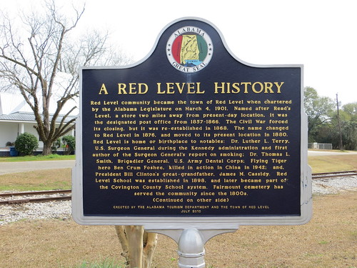 A Red Level History Marker (Obverse) Red Level AL
