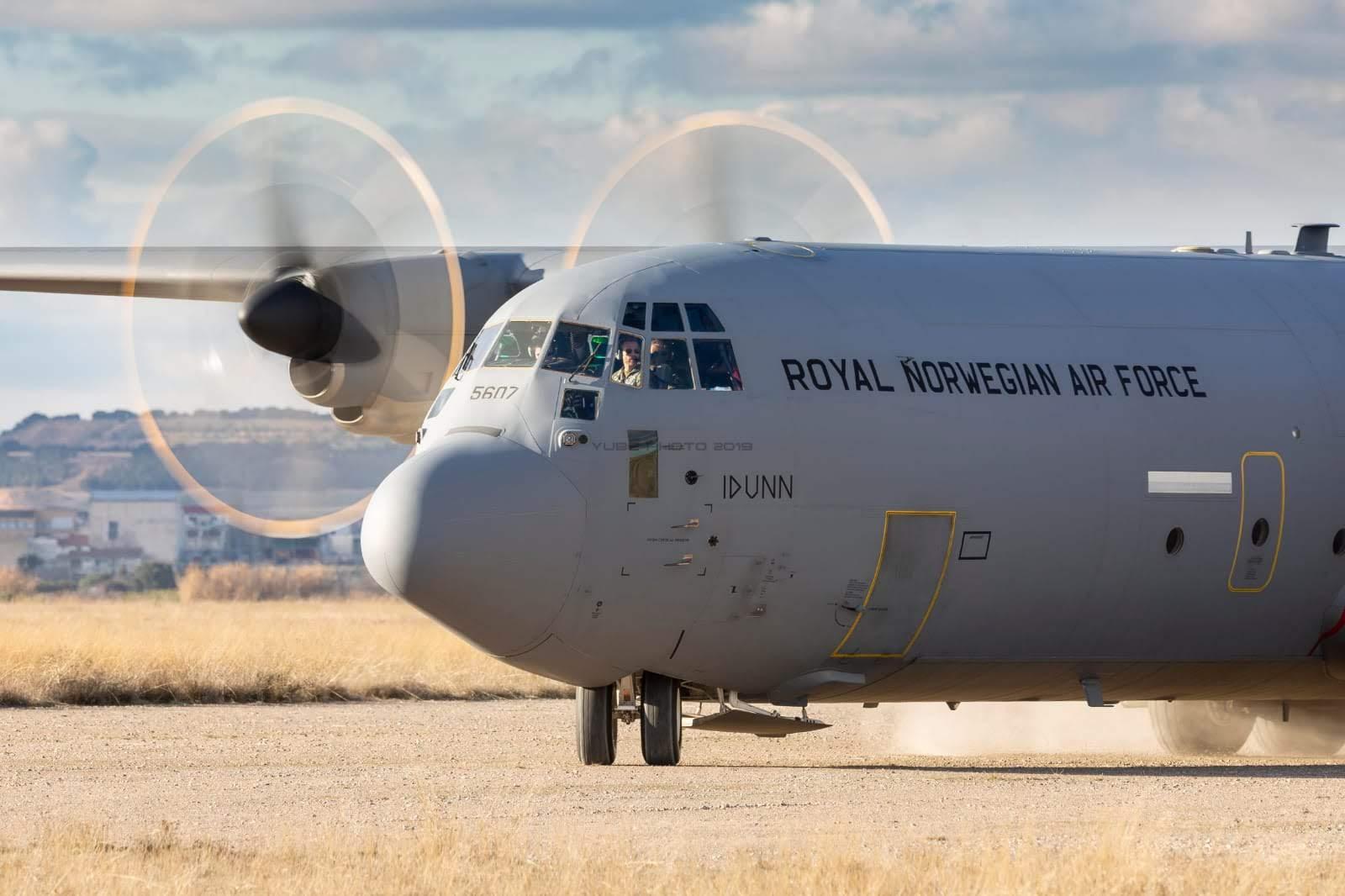 Avión noruego participante en el ETAP
