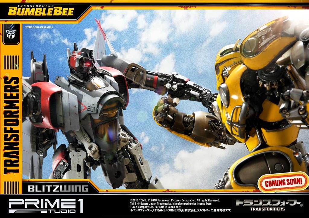Prime 1 Studio《大黃蜂》閃電 Blitzwing MMTFM-25 全身雕像公開!!