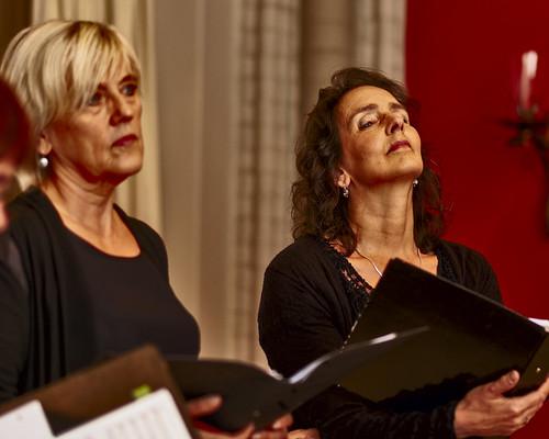 Kamerkoor Pipelaere concert op 7 oktober 2018 in Sambeek. Dirigent Kees Doevendans