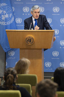 UN Special Envoy for Global Education Guest at Noon Briefing | by United Nations Photo