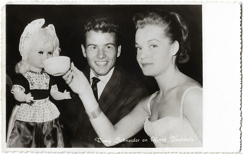 Romy Schneider and Horst Buchholz at the Dutch Première of Monpti (1957)