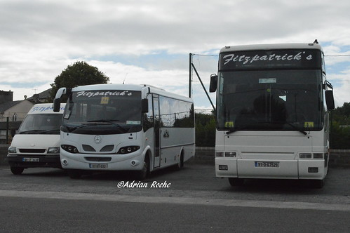 Fitzpatrick's Of Listowel Plaxton Premiere (97-D-67529), Mercedes Eurocoach LX33 (07-KY-632) & Ford Transit (04-OY-3532).