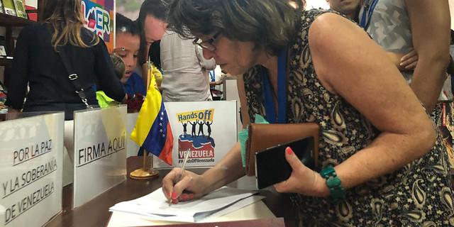 Comienza en Cuba movilización popular para firmar en defensa de Venezuela