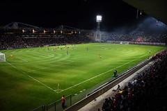 Tifo lumineux au stade des Costières