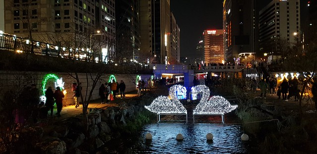 Seoul Christmas Festival 2017, Cheonggyecheon, Seoul, Korea