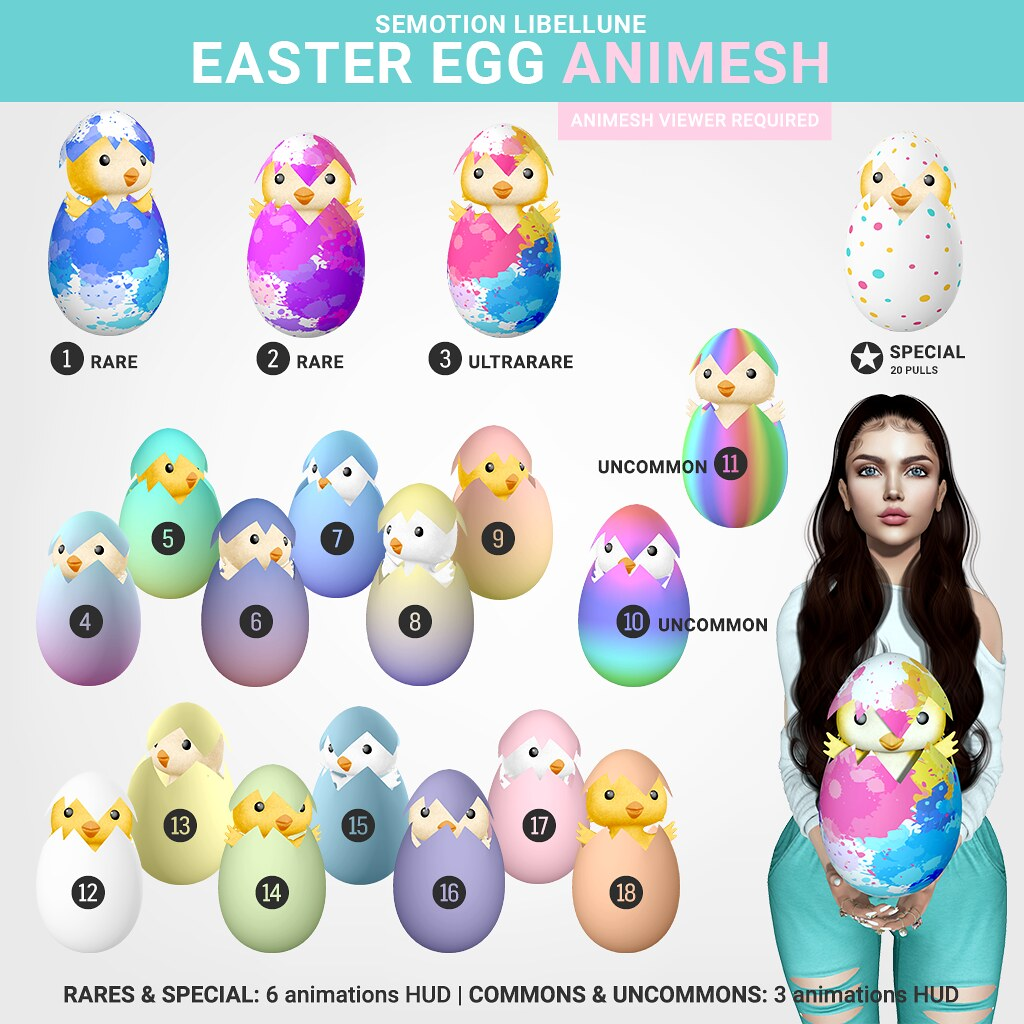 SEmotion x Libellune Easter Egg Animesh
