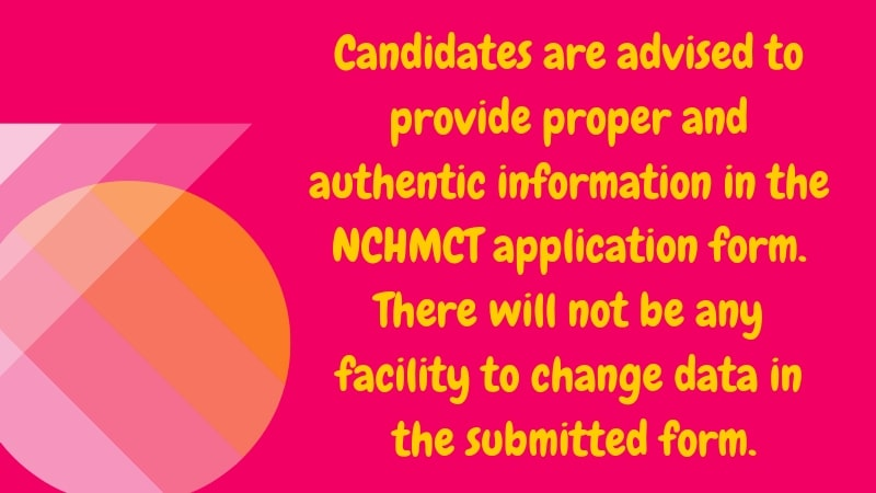 NCHMCT JEE 2019 application form