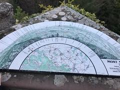 le mont Ste Odile avec le plan des villes et sa vue...