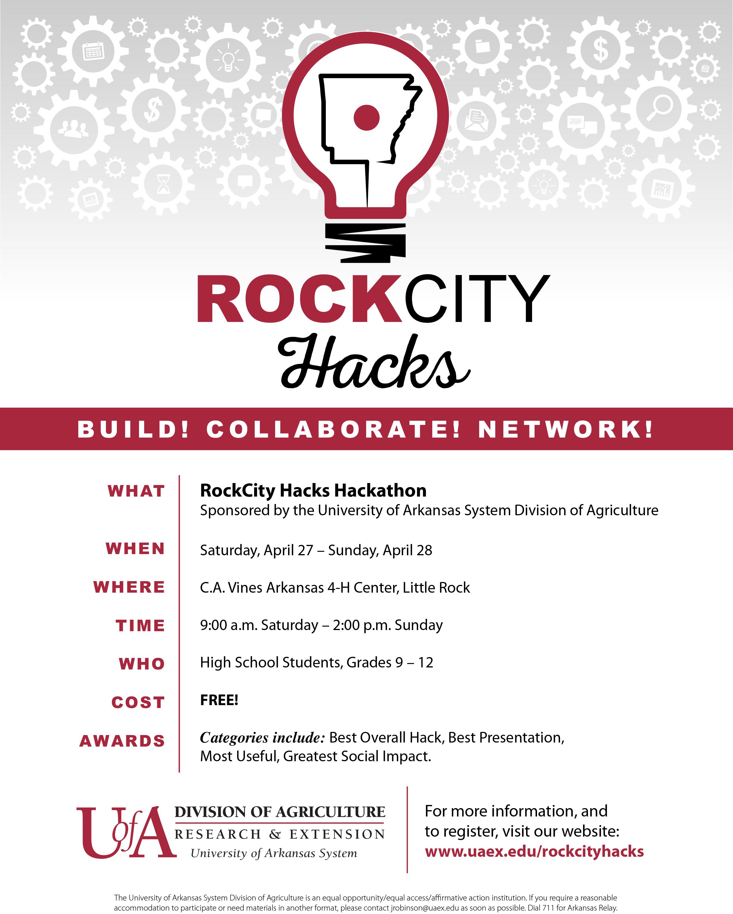 RockCity Hacks flyer