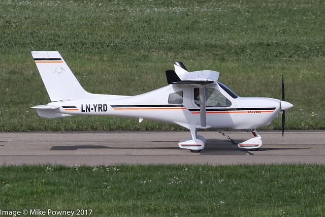 LN-YRD - 2013 build Jabiru J170SW, taxiing for departure at Friedrichshafen during Aero 2017