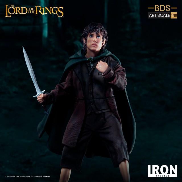 歷經各種磨難的「魔戒持有者」! Iron Studios Battle Diorama 系列《魔戒》佛羅多 Frodo 1/10 比例決鬥場景雕像作品