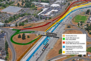 Eastbound SR 16 to southbound I-5 after eastbound S. 38th Street reopens