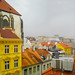 The tiled roofs of Prague